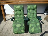 RECLINER GARDEN CHAIRS