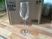 Set of 12 brand new champagne flutes