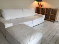 Under-used Quality 3 Seater Sofa Bed & 52-inch Flatscreen HD, LG Telly - GBP700 combined