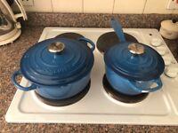 Le Creuset Cast Iron Signature Saucepan 1.5L Marseille Blue RRP £135