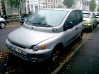 Fiat Multipla JTD. 2002. Left hand drive. For spares.