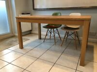 Ikea Bjursta extendable table oak veneer