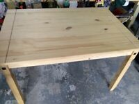 AS NEW SOLID WOOD TABLE