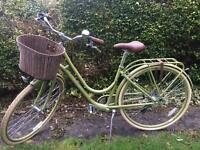 Raleigh green vintage style bicycle