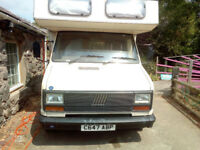 Talbot/Fiat LPG/Petrol motorhome good condition for age with toilet shower hot water TV cheap to run