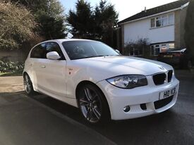 BMW 1 Series 2.0 116i Performance Edition 5 door hatchback car 2011 in white (11 plate)