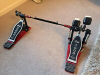 DW 5000 Double Bass Pedal with DW Hardcase