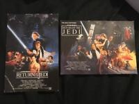 2 original Return of the Jedi postcards