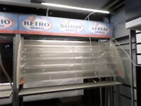 Greetings Cards Shop Display Stands with Lights - Retail Fittings Units Freestanding with Shelves