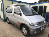 MAZDA BONGO HIGH TOP LIFTING ROOF SLEEPS 4 TOW BAR ELEC BLINDS GOOD CONDITION STEREO CD player ALLOY