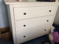 White IKEA Hemnes chest of drawers