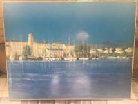 M.Stojkovic Beautiful Marina Canvas Painting
