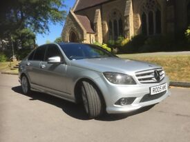 Mercedes-Benz C Class 1.6 C180 BlueEFFICIENCY Kompressor Sport 4dr silver auto