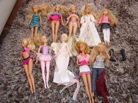 Barbie dolls collection. £9. Torquay.