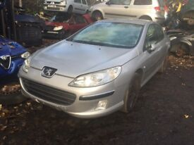 peugeot 407 2006 2.0 diesel 5dr silverBreaking For Spares