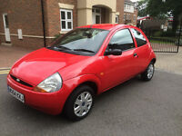 2004 FORD KA COLLECTION 1.3L * 1 YEAR MOT * GREAT CONDITION * 99K & F.S.H * AIR CON * CD * ELEC WIND