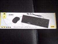 9 keyboards and mouse sets