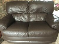Leather 6 seater suite