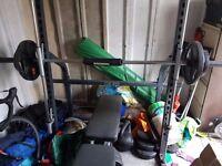 bench press machine/ smith machine + adjustable bench = other weights
