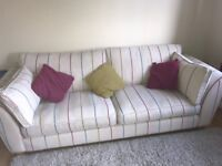 DFS 2 piece suite sofa and cuddle chair
