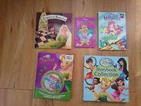 Various Tinker Bell , Little Mermaid, Cinderella, Disney Fairies books plus sleeping beauty. Used
