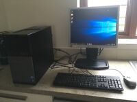 Dell Optiplex 7010 PC with HP screen, keyboard and mouse!