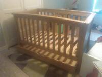 mamas & papas ocean cot bed solid oak