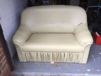 2 seater faux leather sofa - Free to collect!