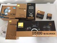 Nikon D5100 18-55II Kit Dslr Camera+ Af-s Nikkor 35mm f/1.8G +