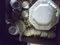 Collection of Eternal Beau crockery by Johnson Bros