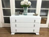 Vintage oak chest of drawers Free Delivery Ldn shabby chic