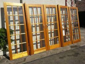 Set of Room Divider Doors and Side Screens plus one Interior Door