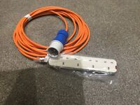 Camping hook up cable brand new for use with tent or awning 10m long