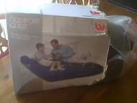 Inflatable double guest bed, used once in excellent condition.
