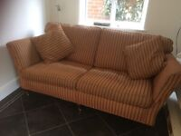Sofa three seater, high quality, all cushion covers removable and washable