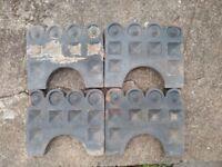 4 X garden edging stones