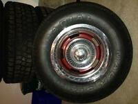 Rally rims and tire off a 73 Cutlass supreme