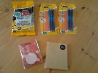 stationery - ballpoint pens and stickie notes