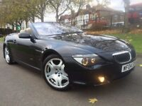 BMW 645CI 4.4 CONVERTIBLE AUTOMATIC 2004 HEATED LEATHER SAT NAV FULL HISTORY LONG MOT DRIVES SUPERB