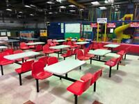 Takeaway restaurant 4 seater table and chairs