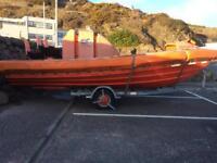 Fast launch rib fishing boat