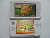 White 3DS XL Console + Games inc pokemon moon,mega ruby,alpha sapphire,Y/X