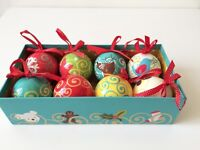 Gorgeous Brand New Boxed Christmas Decorations with Bows