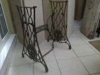 singer sewing machine treadle base ideal table legs
