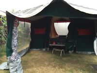 Raclet Trailer tent, with awning and kitchen