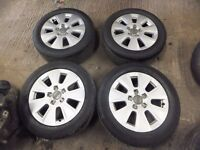 """AUDI A3 2008 2012 16"""" ALLOYS AND TYRES"""