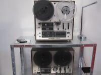 Pair of Akai reel to reel tape recorders open reel high end audio hi-fi