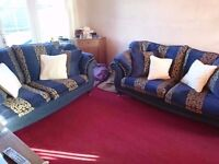 Matching pair of large 2 seater settees