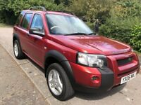 FREELANDER 2.0 TD4 FREESTYLE AUTOMATIC 06 REG IN FIRE RED WITH HALF LEATHER,FULL SERVICE HISTORY
