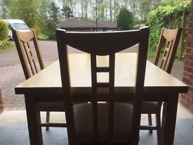 Dining table and four chairs (ikea)
